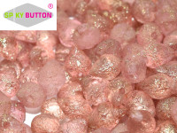 Spiky Button - Etched Crystal Teracota Red