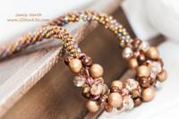 Sample - Bronze-Rose 7 Strand Necklace