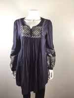 MONORENO Gray Peasant Tunic Top Cover Up Dress Size Medium