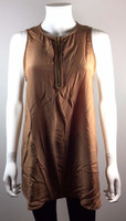 VINCE Rust Orange Silk Tank Blouse Size Medium