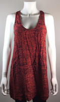 JOIE Red Print Sleeveless Tunic Blouse Size Large