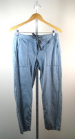 J.CREW Chambray Drawstring Cotton Pant Size 8