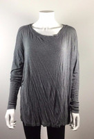 CABI Gray Bateau Neck Tee Shirt #577 Size Medium