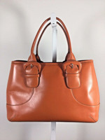 COLE HAAN Orange Large Leather Satchel Shoulder Handbag