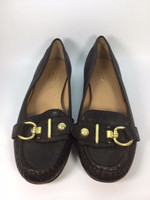 "COACH Brown Leather ""Elkie"" Loafer Oxford Flat Size 7.5"