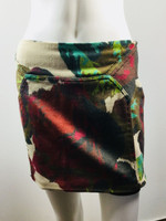 DIANE VON FURSTENBERG DVF Multi Color Kawa Mini Skirt Size 2