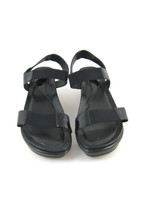 DANKSO Black Leather Open Toe Wedge Sandal Size 40
