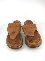 DANKSO Brown Leather Open Toe Thong Sandal Size 40
