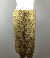 RACHEL ROY Tan Cheetah Print Straight Knee Length Skirt Size Medium