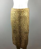 RACHEL ROY Tan Cheetah Print Straight Knee Length Skirt Size Medium