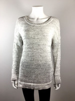 DEREK LAM 10 CROSBY Gray Crossover Open Back Long Sleeve Sweater Size P