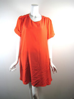 3.1 PHIILIP LIM Orange Short Sleeve Silk Dress Size 6