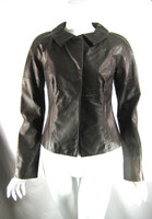CHARLES NOLAN NEW YORK Brown Leather Jacket Size 4