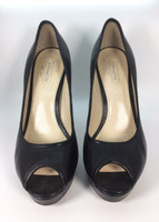 COACH Black Leather Breana Platform Heeled Pump Size 6.5