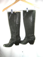 COCLICO Dark Gray Leather Knee High Boot Size 36.5