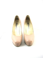 BRIAN ATWOOD Nude Patent Leather Platform Heel Pump Size 40.5