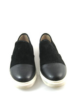 STEVE MADDEN Black Slip On Suede Leather Sneaker Size 9.5