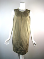 DENNIS MEROTTO Khaki Sleeveless Dress Size 4
