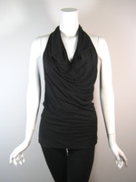 ROBERT RODRIGUEZ Black Racer Back Sleeveless Tank Blouse Size XS