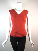 LIDA BADAY Red Sleeveless Blouse Size Small