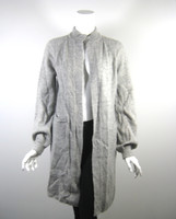 TEXTILES ELIZABETH AND JAMES Gray Mohair Long Cardigan Sweater Size XS/S