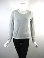 RAG & BONE White Black Print Sweatshirt Pull Over Top Size Medium