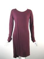KAIN Burgundy Long Sleeve T Shirt Dress Size Small