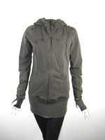 LULULEMON Brown Zip Front Athletic Yoga Workout Jacket Size 6 Medium