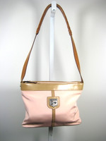 BARRY KIESELSTEIN CORD Pink Nylon Leather Shoulder Handbag