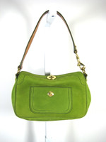 COACH Green Leather Small Shoulder Handbag