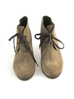 CLASS Brown Suede Lace Up Heeled Ankle Boot Size 39