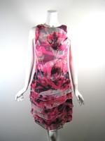 CARLISLE Pink Multi Silk Sleeveless Dress Size 4
