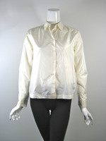 MICHAEL KORS Ivory Silk Button Down Blouse Size 2