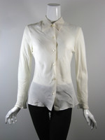 MICHAEL KORS Ivory Silk Button Down Blouse Size 42 / 8