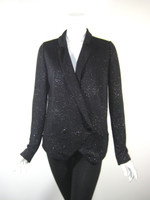 BLLACK Shimmery Black Blazer Jacket Size 40