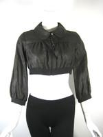 COP COPINE Brown Linen Cropped Jacket Size 2