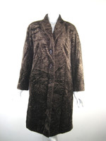 LAFAYETTE 148 NEW YORK Brown Knee Length Coat Size Medium