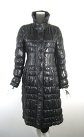 STRENESSE Black Quilted Puffer Knee Length Coat Size 4
