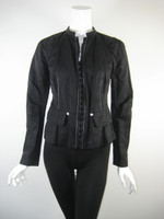 LIDA BADAY Black Long Sleeve Zip Front Jacket Size 4