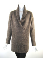 VINCE Brown Cashmere Cowl Neck Sweater Size Small