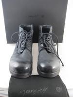 MARSELL Zucca Zeppa Black Nero Leather Montone Moto Boot Size 39.5 IN BOX