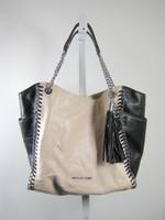 MICHAEL KORS Pink Black Chain Handle Shoulder Handbag