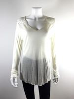 JUDE NWT Ivory V Neck Long Sleeve Sweater Size Medium $97