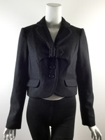 ROBERT RODRIGUEZ Gray Wool Button Front Jacket Size 6