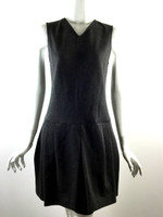 VINCE NWT Gray Sleeveless Bubble Hem Cocktail Dress Size 8