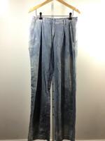 SEA NEW YORK Light Denim Trouser Pinstripe Boyfriend Cut Size 8