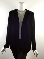 ALEXANDER WANG Black Velvet Long Sleeve Blazer Jacket Size 6/8