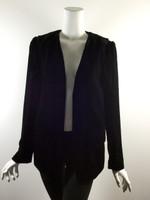 ALEXANDER WANG Black Velvet Long Sleeve Blazer Jacket Size 6/8
