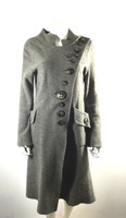 CASCH BY GRO ABRAHAMSSON Gray Taupe Button Front Wool Sweater Jacket Size 38
