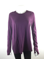 LULULEMON Plum Long Sleeve Athletic Yoga Top Tee Size 6/8 Medium